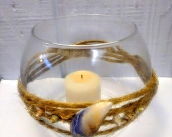 Rustic candle bowl