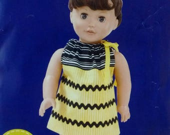 Simplicity Sew Simple 18 inch doll dress pattern 1979