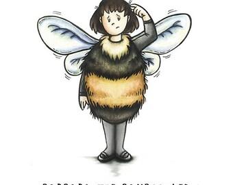 Barbara the Bumblebee greeting card