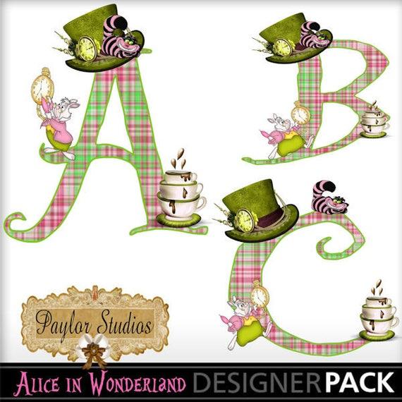 mad hatter tea party digital scrapbook clip art printable