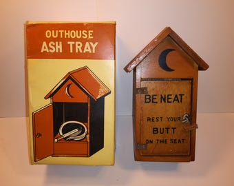 1960s Novelty Out house Ashtray