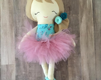 Hannah Dress Up Doll - Style 1 (with pink tutu skirt)