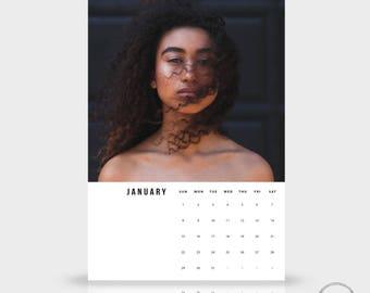 2017 + 2018 Calendar Template - 12x18 Photoshop Wall Calendar, Photography Calendar, Monthly Calendar Printable Digital download - 1110