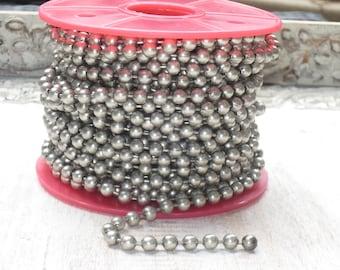 Antique Silver Ball Chain 6.4mm Large Ball Chain