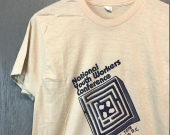 S/M * vintage 70s 1978 National Youth Workers Conference t shirt