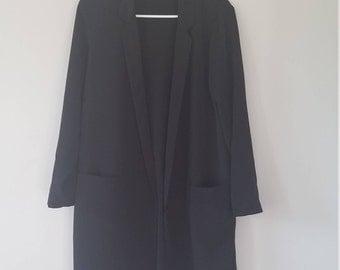 Elegant Light Duster Coat Black