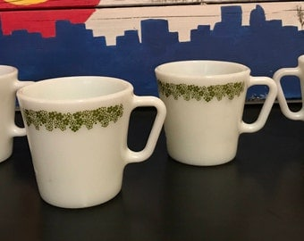 Spring Blossom Green Mugs