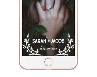 Wedding Snapchat Geofilter | Sarah & Jacob