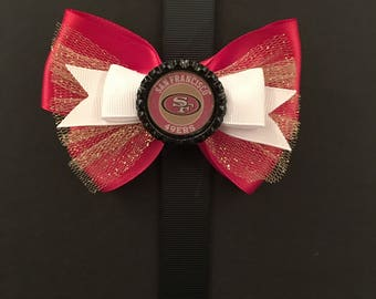 San Francisco 49ers Football Bow