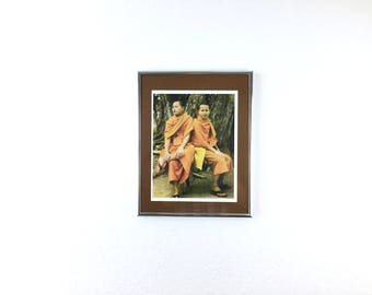 Framed Photo of Two Buddhist Monks