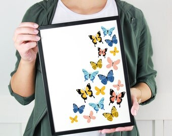Flying Butterflies - Art Print