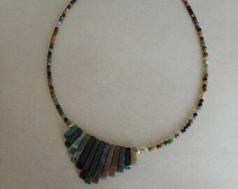 INCA Indian agate necklace