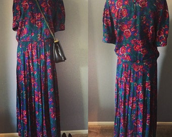 Vintage Lord and Taylor Floral Dress