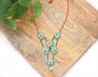 vintage statement necklace   womens