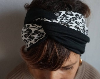 Headband, Headwrap, Turban Style, Turban Headband, Knot Headband, Fabric Headwrap, Woman Turban, Accessories for Woman, Turban Hat,Animalier