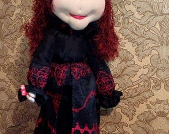 Enchantress witch Textile doll handmade doll fabric doll Soft doll cloth doll Collectible doll Interior doll home angelart doll