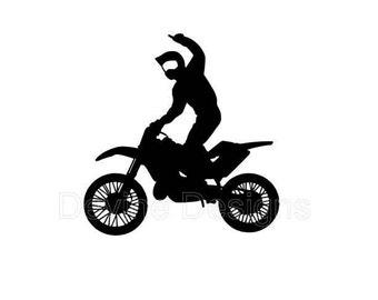 motocross silhouette etsy