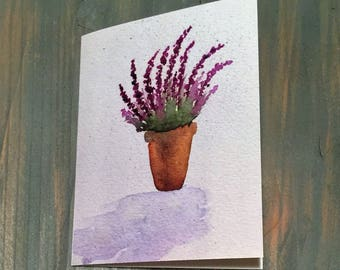 Lavender Watercolor Note Card