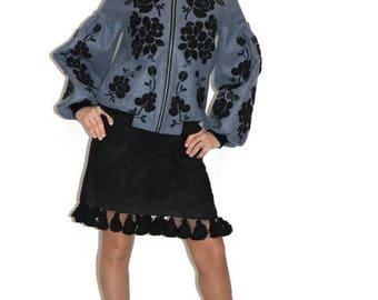 Ukrainian Embroidery Vyshyvanka Vishivanka Bohemian clothing Embroidered Coat Bomber Custom Boho Clothes Ethnic Ukraine Modern style