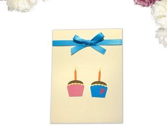 2 Cupcakes Birthday Card