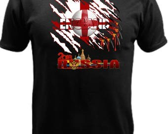 England World Cup Russia 2018 w/flag