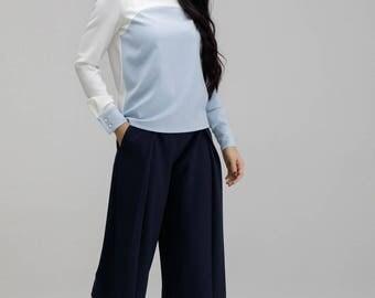 "Wide trousers ""JUTA"" in dark blue"