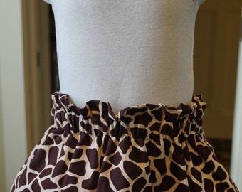 Giraffe Print Skirt
