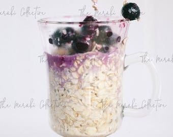 Blueberry Oatmeal Stock Photo/ Images for health, wellness & fitness Bloggers, Coaches and Entrepreneurs