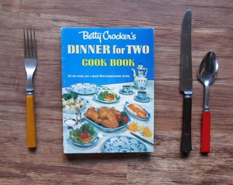 1958 BETTY CROCKER'S Dinner for Two Cook Book | Illustrated by Charles CHARLEY Harper 1st Edition First Printing