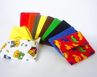 Boys Handkerchief Reusable Tissue Cozy Set Custom Travel Size Hankies and Reusable Tissue Case - Back To School Zero Waste Hankerchief Boys