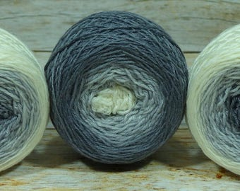 "Full "" Crone "" - Lleaf Handpainted Gradient Sock Yarn"