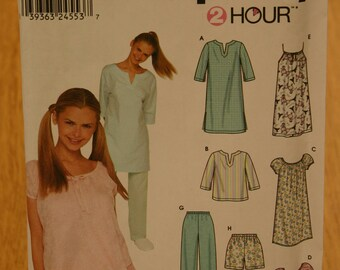 Simplicity Misses Sleepwear Pattern 9505 Sizes XS-S-M