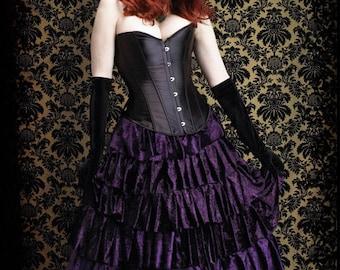 Lenore Fairy Tale Romantic Gothic Tiered Ruffled Velvet Bespoke Handmade Vampire Skirt - Dark Romantic Couture by Rose Mortem