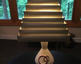 Venetian Blind Lampshade 1950's Off White Cream 7 Tiers MCM Mid Century Modern Mad Men RARE
