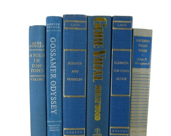 Blue Books,  Blue Vintage Books,  Home Decor, Old Books, Blue Decorative Books,  Photo Props,   Wedding Decor, Books for Cheap