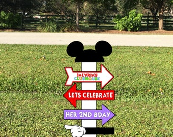Mickey Mouse Clubhouse Sign- Mickey's Clubhouse Oh Toodles Party Prop