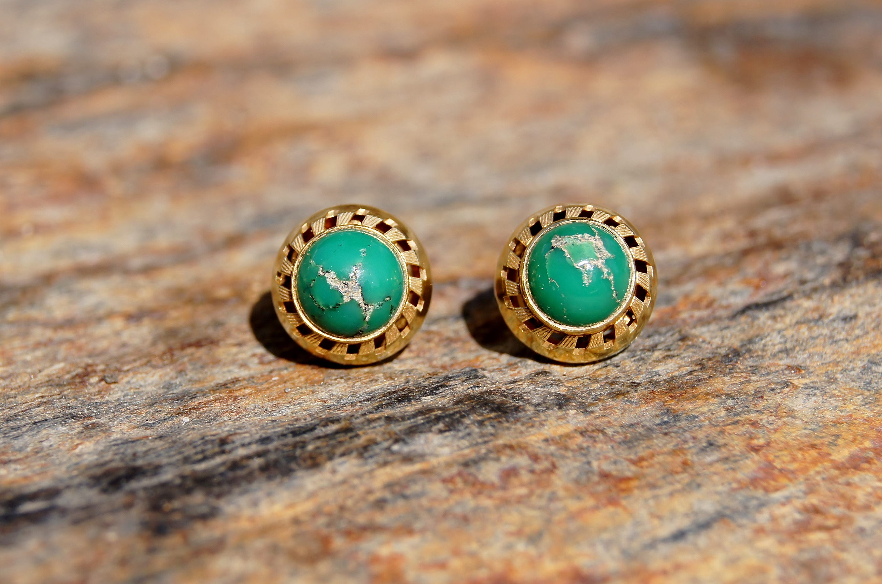 our goods stud mellow made pair thailand wood inlay mango earrings turquoise a mood in jewelry