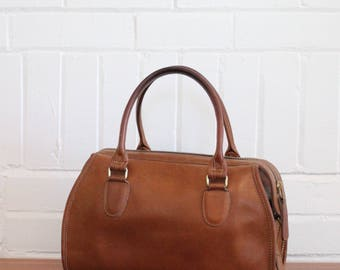 Vintage Coach Bag // Speedy Broadway Doctor Bag Tan  // Coach Satchel Handbag