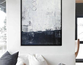 Large Abstract Painting, Abstract Wall Art. 48x36 Inch Large Abstract Art. Original Abstract Painting. Large Abstract Wall Painting.