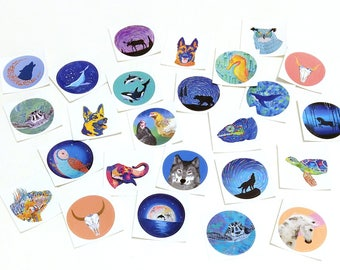 Animal stickers, nature stickers, ocean stickers, boho stickers, vinyl stickers, colorful stickers, whale stickers, decorative stickers
