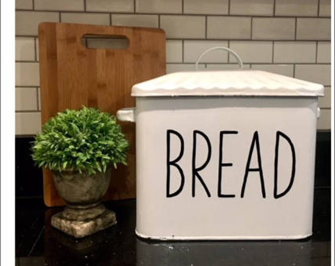 Decal Only-Bread Vinyl Decal-Farmhouse Decal-Rustic Bread Box Decal- Farmhouse Style Kitchen Decal for Bread Box