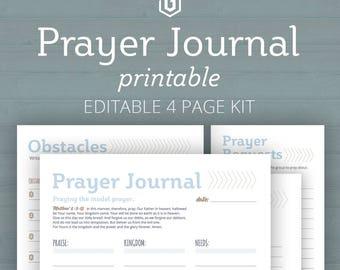Prayer Journal, Bible Journal Kit, Prayer Journaling, Prayer Journal Pages, Christian Journal, Printable Prayer Journal, Bible Journal
