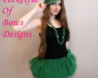 Green Adult Tutu, Color Run Tutu, Short Adult Tutu, Green Teen Tutu