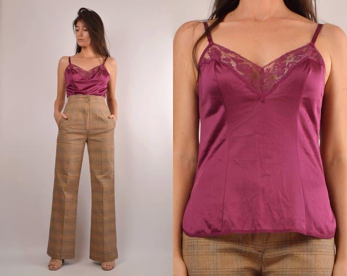 70's Garnet Camisole Slip Top