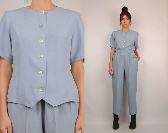 Vintage Silk Pants Set minimalist