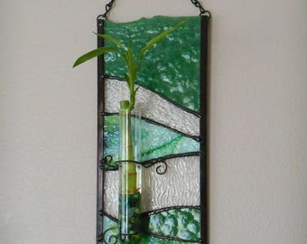 Stained Glass Lucky Bamboo Holder