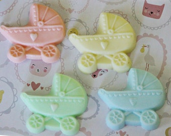 10 Baby Carriage Soap Favors/It's a boy/It's a Girl/Tween babies shower favors