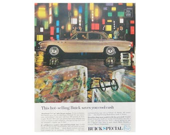 1961 Buick Special Vintage Ad - Unframed Car Advertising for Wall Art