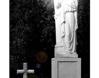 Grieving Angel, St. Louis Cemetery, New Orleans Fine Art Print