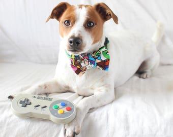 S/M/L Super Mario Pet Dog Cat Bow Tie